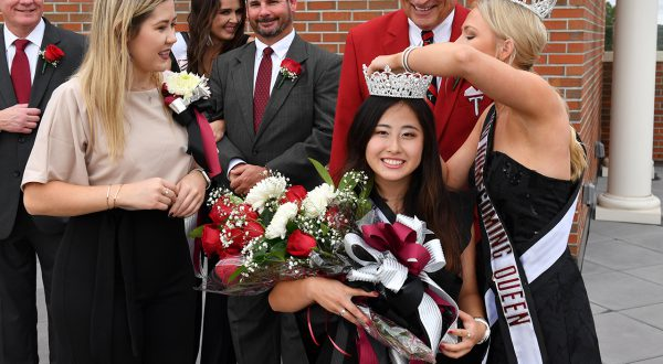 Lucy Pu crowned Troy University Homecoming queen